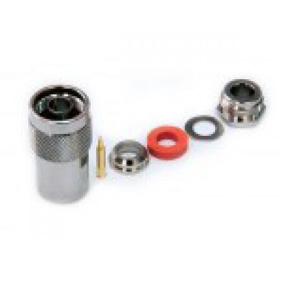 Разъем N-типа, вилка, для кабеля 8D (прижимной)