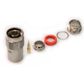 Разъем N-типа, вилка, для кабеля 10D (прижимной)