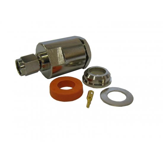 Разъем SMA, вилка, для кабеля 5D (прижимной)