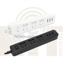 Удлинитель Xiaomi Mi Power Strip 3 розетки Black, 3-USB