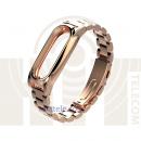 Ремешок-браслет металлический для Mi Band 2 Metal Strap Gold
