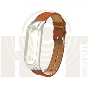 Ремешок для Xiaomi Mi Band 3 Brown кожаный