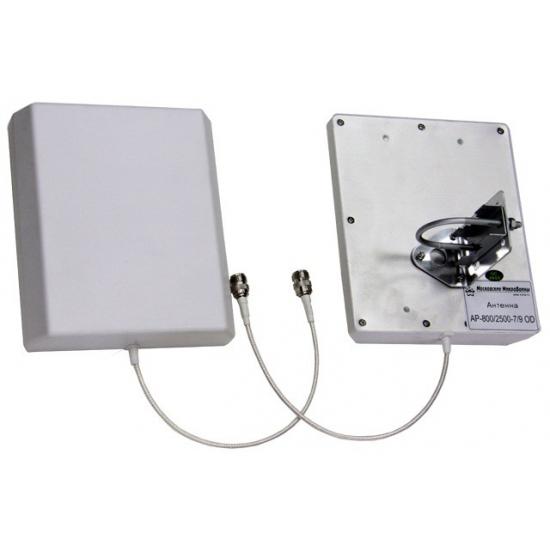 Панельная секторная всепогодная антенна GSM-900/1800/3G/Wi-Fi сигнала AP-800/2700-7/9 OD
