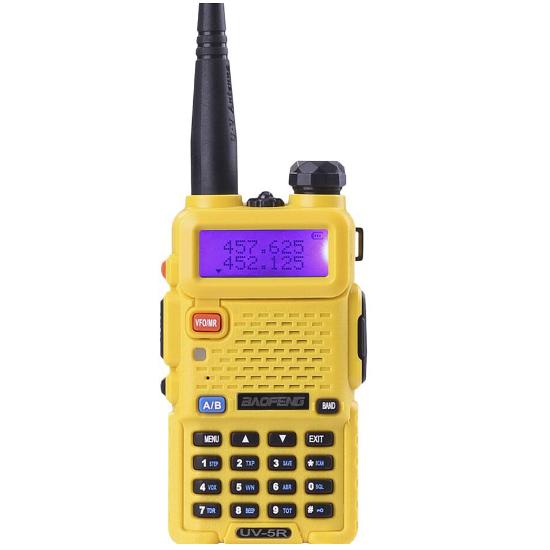 Портативная двухдиапазонная радиостанция Baofeng UV-5R Yellow