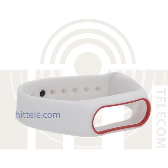 Ремешок для Xiaomi Mi Band 2 White-R