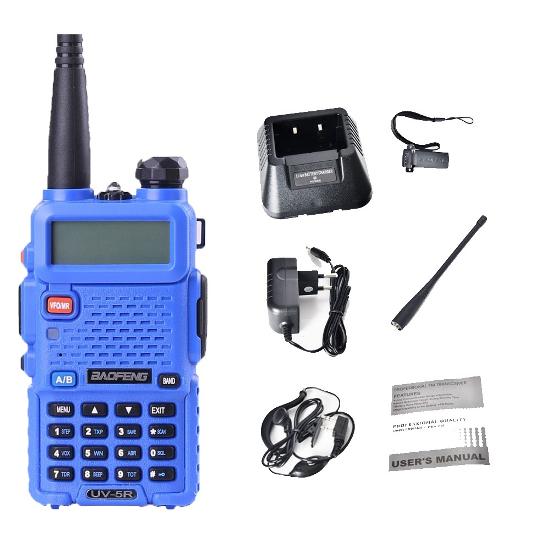 Портативная двухдиапазонная радиостанция Baofeng UV-5R Blue ...