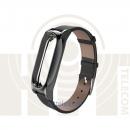 Ремешок для Xiaomi Mi Band 2 Black кожаный