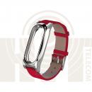 Ремешок для Xiaomi Mi Band 2 Red кожаный