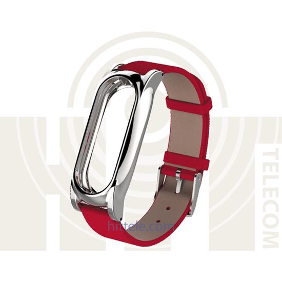 Ремешок для Xiaomi Mi Band 2 Red кожанный