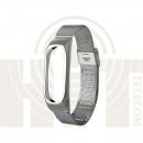 Ремешок-браслет Сетчатый металлический для Mi Band 2 Metal Mesh Strap Silver