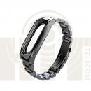 Ремешок-браслет металлический для Mi Band 2 Metal Strap Black
