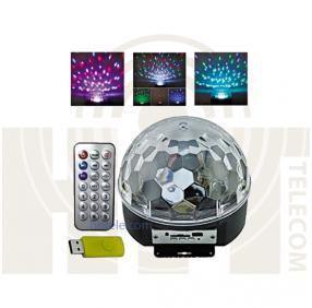 Светодиодный дискошар LED Magic Ball Light MP3