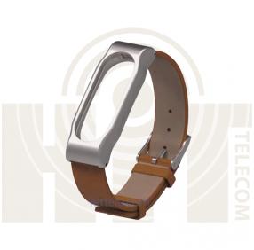 Ремешок для Xiaomi Mi Band 2 Brown кожанный