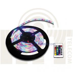 Светодиодная RGB лента герметичная многоцветная с контроллером