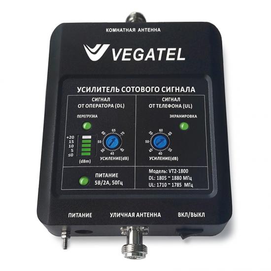 Репитер GSM сигнала VEGATEL VT2-1800 (LED 2017 г.)